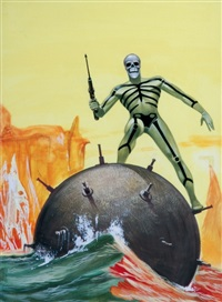 kriminal - una crociera sulle spine (book cover illus.) by luigi corteggi