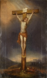 jesus am kreuz by karl vogl
