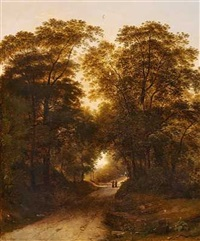 personer i en lysning på en skovssti by giambattista bassi