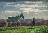 ragazza con cavallo by giuseppe ciardi