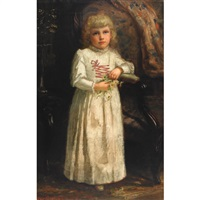 portrait of a young girl by john wycliffe lewis forster