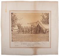 president lincoln at battlefield of antietam by alexander gardner