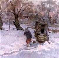 le puits en hiver by anatoly nikolaivich talalaev