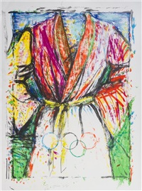 olympic robe (from the official arts portfolio of the xxivth olympiad, seoul, korea) by jim dine