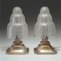 paar tischlampen (pair) by marius-ernest sabino