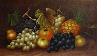 still life of fruit (+ anotherl pair) by edwin steele