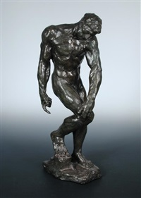 figure of adam by auguste rodin
