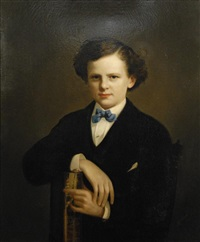 portrait of a kingsley boy by charles cole markham