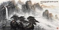 松峰叠翠起云涛 by liang shixiong