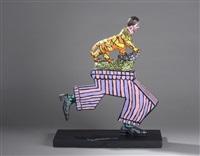 arc de triomphe, pantalon et tigre by robert combas