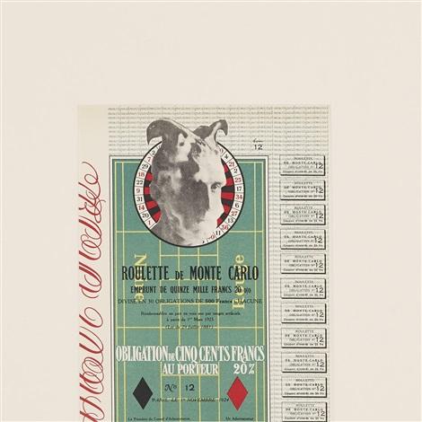 obligations pour la roulette de monte carlo by marcel duchamp