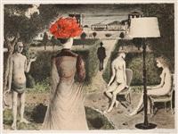 le jardin by paul delvaux