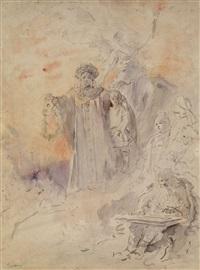 a group of nine works by konstantin egorovich makovsky