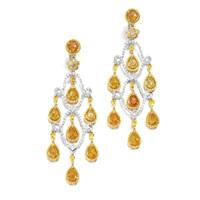 pair of ear pendants by michael youssoufian