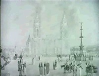 cathedral square, lima by william (lieutenant) smyth