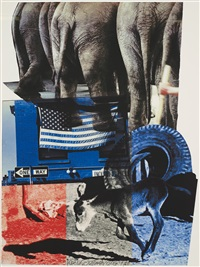 hillary rodham clinton campaign print by robert rauschenberg
