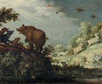 paesaggio con orso by roelandt savery