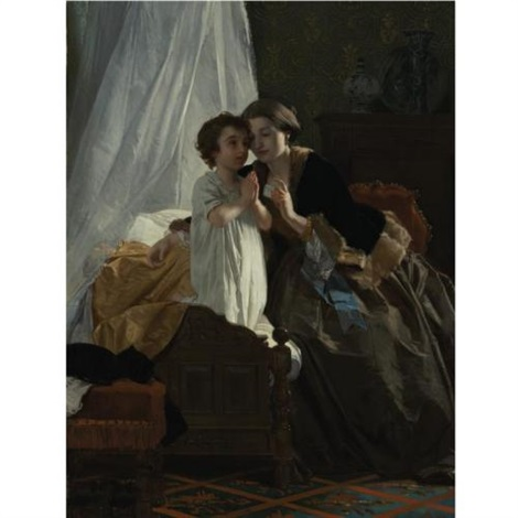 bedtime prayer by eugène ernest hillemacher