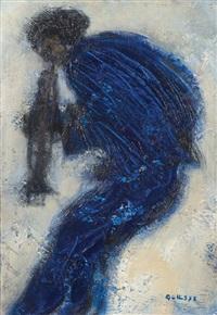musicien bleu by claude quiesse