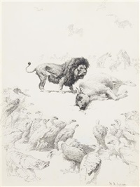 african hunt scene by william robinson leigh