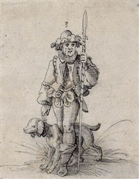 a hunter and his dog by jost amman