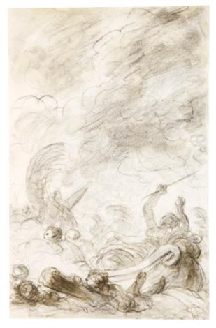 scene from ariostos orlando furioso alcina flees after being worsted in naval combat by jean honoré fragonard