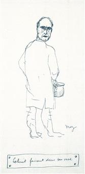 paul colinet faisant dans son vase by rené magritte