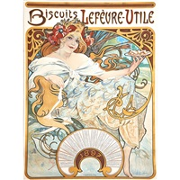 advertisement by alphonse mucha