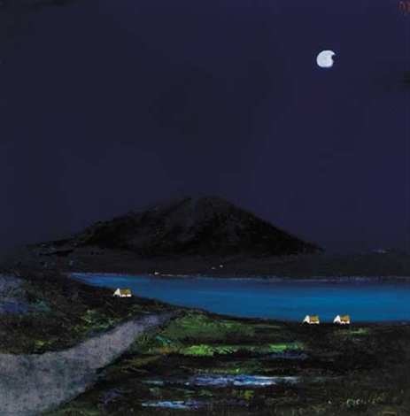 moonlight over west of ireland coast by david gordon hughes