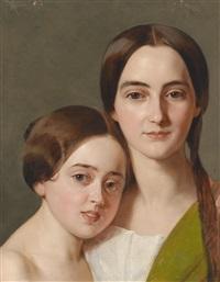 bildnis alexandrine pazzani (1839-1900) und deren cousine caroline von saar (1840-1898) laut familientradition by karl von saar