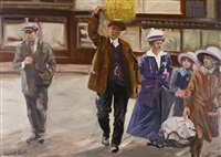 holiday time, st. enoch's station by frank mcfadden