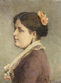 portrait de madame hanotaux by rodolphe piguet