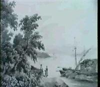 fischerpaar im gesprach am seeufer by jean-joseph-bonaventure laurens