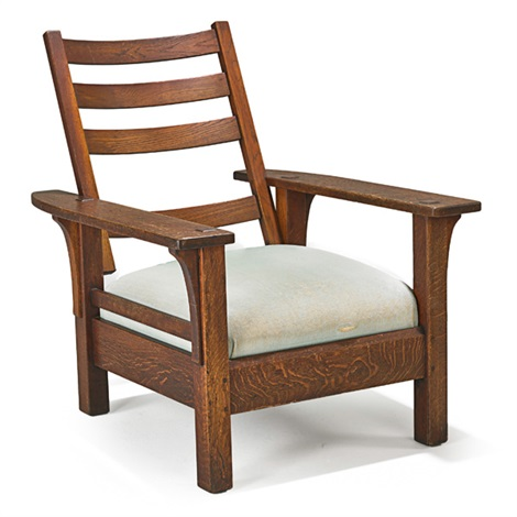 Astounding Fixed Back Morris Chair By L J G Stickley On Artnet Alphanode Cool Chair Designs And Ideas Alphanodeonline