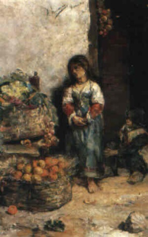 die obstverkäuferin by antonio amorós botella