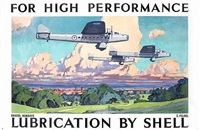 for high performance, bristol bombay lubrication by shell (poster by c. feilkel) by posters: advertising - shell oil