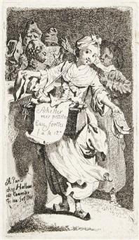 achetez mes petits eaux-fortes (portfolio of 6, incl. title pg.) by johann eleazar schenau