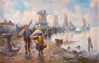 oyster gatherers by adolf baumgartner jr.