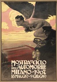 mostra del ciclo e dell'automobile / milano by leopoldo metlicovitz