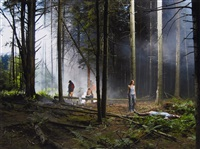 production still (forest gathering #4) beneath the roses by gregory crewdson