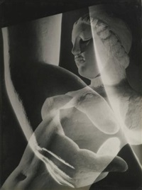 statue et main (multiple exposure) by andré steiner