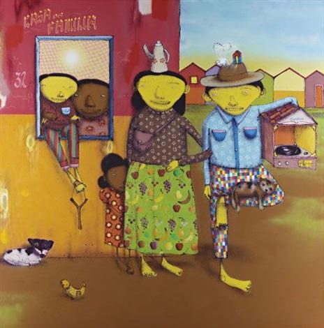untitled o pai o mae o filho a empregada a filha de empregada o cachorro o passarinho by os gemeos