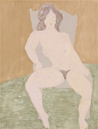 seated nude by march avery