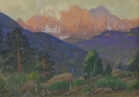 mountain landscape by charles partridge adams