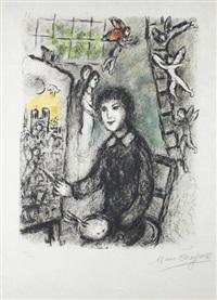 le peintre devant le tableau by marc chagall