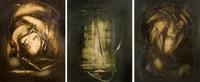 composition abstraite (triptych) by françois archiguille