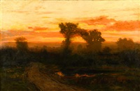 colorado sunset by charles partridge adams