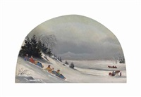 tobogganing near montreal by james d. duncan