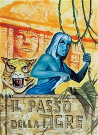 satanik - il passo della tigre (book cover illus.) by luigi corteggi