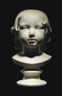 bust of a young boy by johan heinrich von dannecker